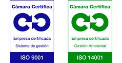 Certificado ISO 9001 y 1400
