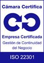 Logo Calidad ISO 22301 Cámara