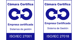 Logos Calidad ISO 27001 / 27018 Cámara