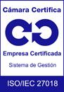 Logo Calidad ISO 27018 Cámara